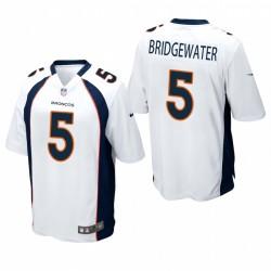 Broncos teddy bridgewater spiel trikot weiß