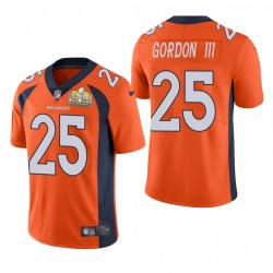 Melvin Gordon III Super Bowl 50 Patch Trikot Broncos Orange Dampf Limited