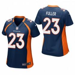 Frauen Kyle Fuller Trikot Broncos Spiel Navy
