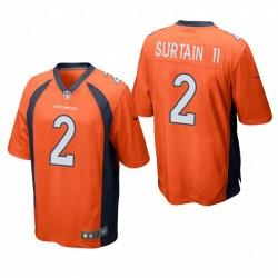 Patrick Satain II NFL Draft Broncos Trikot Orange SPiel