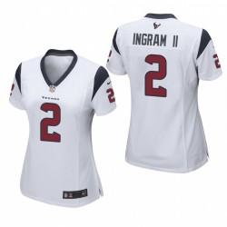 Frauen Mark Ingram II Trikot Texans Spiel Weiß