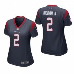 Frauen Mark Ingram II Trikot Texans Spiel Navy