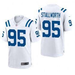 Colts taylor stallworth spiel trikot weiß