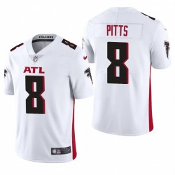 NFL Draft Kyle Pitts Trikot Falcons Weiß Dampf Limited