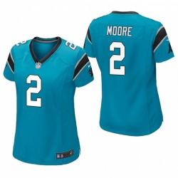 Frauen DJ Moore Trikot Panthers Spiel Blau