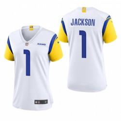 Frauen Desiean Jackson Trikot Rams Spiel Weiß Moderne Throwback