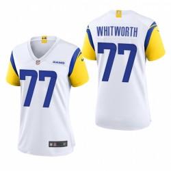 Frauen Andrew Whitworth Trikot Rams Spiel Weiß Modern Thoil