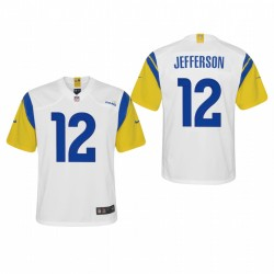 Jugend-Van Jefferson Spiel Trikot Rams Weiß Modern Throwback