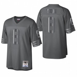 Steve Young Throwback Trikot 49ers Charcoal Metal Legacy Rentierter Spieler