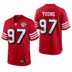 49ers Bryant Young 75th Jubiläum Trikot Scarlet Throwback Spiel