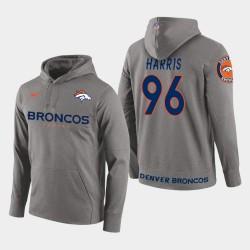 Männer Denver Broncos und 96 Shelby Harris New Season Spieler PulloverHoodie - Grau