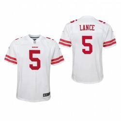 Jugend trey lance spiel trikot 49ers weiß