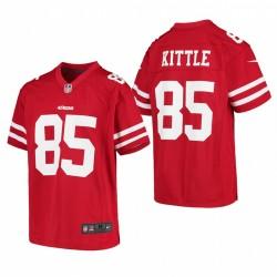 Jugend George Kittle SPIEL Trikot 49ers Scharlachrot