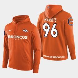 Männer Denver Broncos und 96 Shelby Harris New Season Spieler PulloverHoodie - Orange