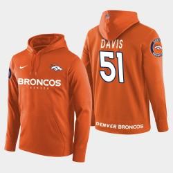 Männer Denver Broncos # 51 Todd Davis New Season Spieler PulloverHoodie - Orange