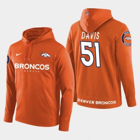 Männer Denver Broncos & 51 Todd Davis New Season Spieler PulloverHoodie - Orange