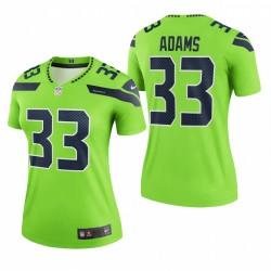 Frauen Jamal Adams Trikot Seahawks Legende Neon Grün