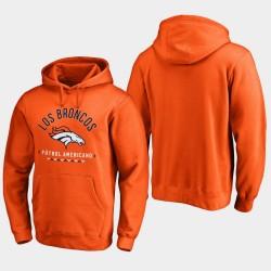 Männer Denver Broncos Futbol Americano PulloverHoodie - Orange