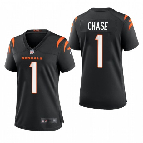 Ja'Marr Chase NFL Draft Bengals Trikot Schwarz SPiel