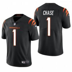 NFL Draft JA'MARR Chase Trikot Bengals Schwarz Dampf Limited