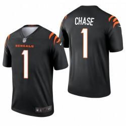 Bengals Ja'Marr Chase NFL Draft Trikot Schwarz Legend