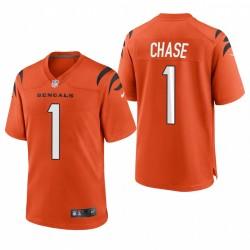 JA'MARR Chase NFL Draft Bengals Trikot Orange SPiel
