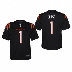 Jugend Ja'Marr Chase spiel trikot bengals schwarz