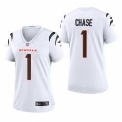 Ja'Marr Chase NFL Draft Bengals Trikot Weiß Spiel