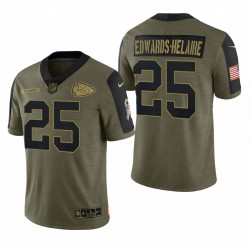 Chiefs Clyde Edwards-Helaire Gruß-Great to Service Trikot Olive Limited