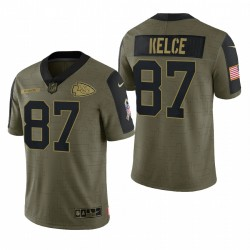 Chiefs Travis Kelce Great to Service Trikot Olive Limited