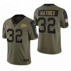 Chiefs Tyrann Mathieu Great to Service Trikot Olive Limited