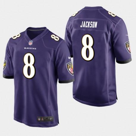 Männer Baltimore Ravens & 8 Lamar Jackson Spiel Jersey - Purple
