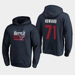 Männer Houston Texans Tytus Howard 2019 NFL Playoffs Bound Heimatstadt Checkdown PulloverHoodie - Navy