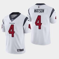 Männer Houston Texans & 4 Deshaun Watson 100. Saison Vapor Limited Jersey - Weiß