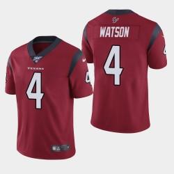 Männer Houston Texans & 4 Deshaun Watson 100. Saison Vapor Limited Jersey - Red