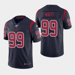 Männer Houston Texans & 99 J. J. Watt 100. Saison Farbrausch Jersey - Navy