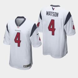 Männer Houston Texans & 4 Deshaun Watson Spiel Jersey - Weiß