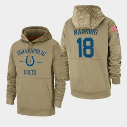 Männer Peyton Manning Indianapolis Colts 2019 Salute to Service-Sideline Therma PulloverHoodie - Tan