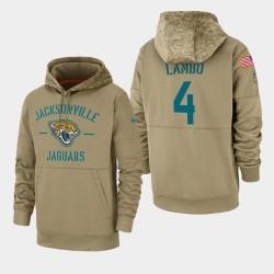 Männer Josh Lambo Jacksonville Jaguars 2019 Salute to Service-Sideline Therma PulloverHoodie - Tan