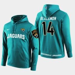 Männer Jacksonville Jaguars # 14 Justin Blackmon New Season Spieler PulloverHoodie - Teal