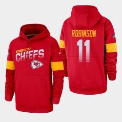 Männer Kansas City Chiefs und 11 Demarcus Robinson 100. Saison Sideline-Team-Logo PulloverHoodie - Rot