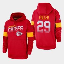 Männer Kansas City Chiefs # 29 Kendall Fuller 100. Saison Sideline-Team-Logo PulloverHoodie - Rot