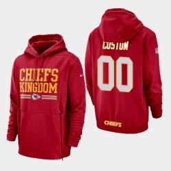 Männer Kansas City Chiefs & 00 Benutzerdefinierte Seitenlinie Lockup PulloverHoodie - Rot