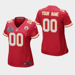 Frauen Kansas City Chiefs & 00 Benutzerdefinierte Super Bowl LIV Spiel Jersey - Red