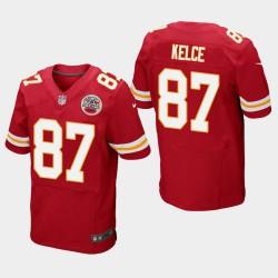 Männer Kansas City Chiefs und 87 Travis Kelce Elite Jersey - Red