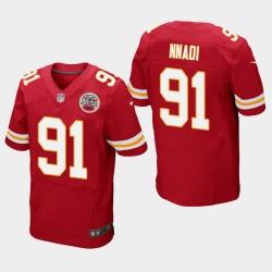 Männer Kansas City Chiefs und 91 Derrick Nnadi 2018 NFL Draft Elite Jersey - Red