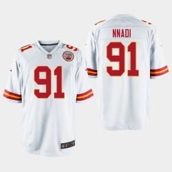 Männer Kansas City Chiefs und 91 Derrick Nnadi 2018 NFL Draft Spiel Jersey - Weiß