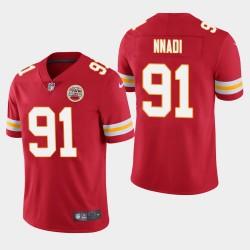 Männer Kansas City Chiefs und 91 Derrick Nnadi 2018 NFL Draft Vapor Untouchable Limited Jersey - Red