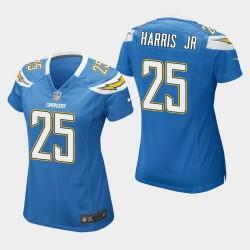 Frauen Los Angeles Ladegeräte und 25 Chris Harris Jr Spiel Jersey - Light Blue