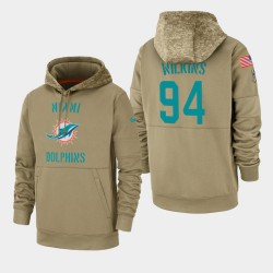 Herren Christian Wilkins Miami Dolphins 2019 Salute to Service-Sideline Therma PulloverHoodie - Tan